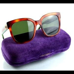 New Gucci GG0034S Oversized Sunglasses with Case
